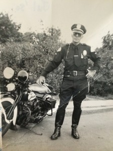 John McAllister, shown here as a motor officer for the LAPD in the early 1950s, is Baas' grandfather. Photo courtesy of Baas family