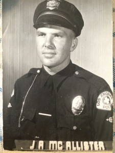 An early shot of John McAllister, an LAPD cop from 1949-1979. He died in 2004.